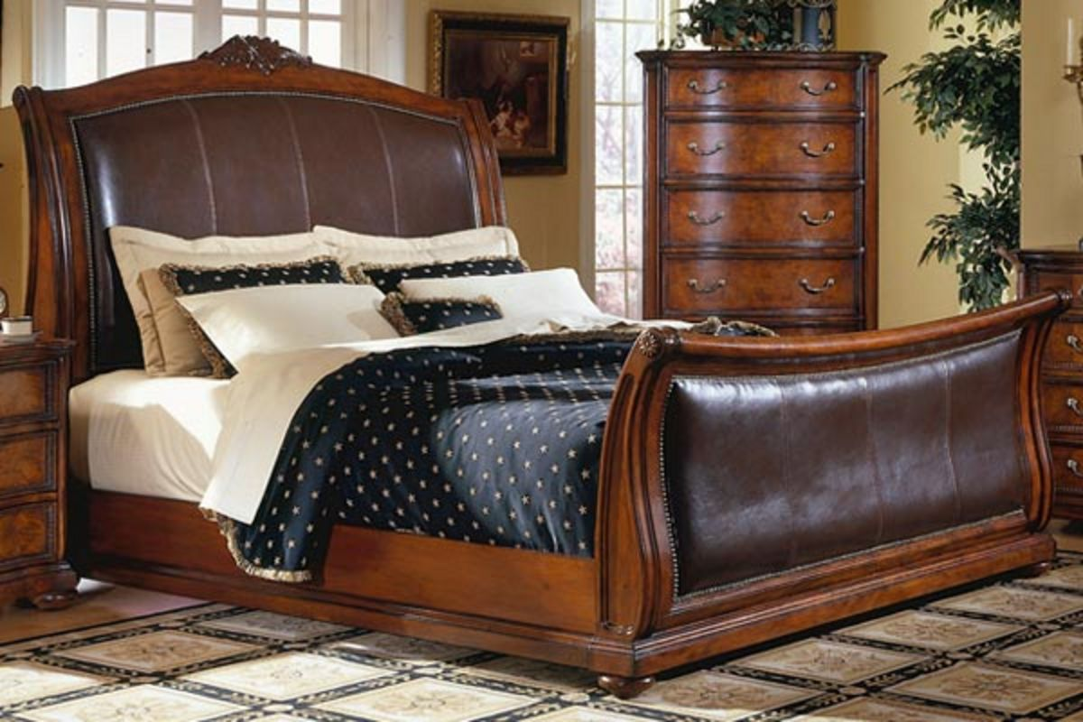 "duchess king bed, dresser, mirror & chest w/ 42"" hdtv!"