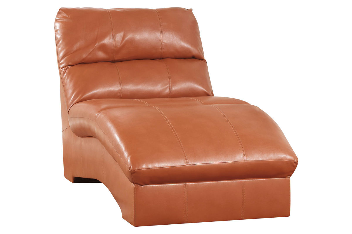 Odelia Leather Chaise Lounge At Gardner White