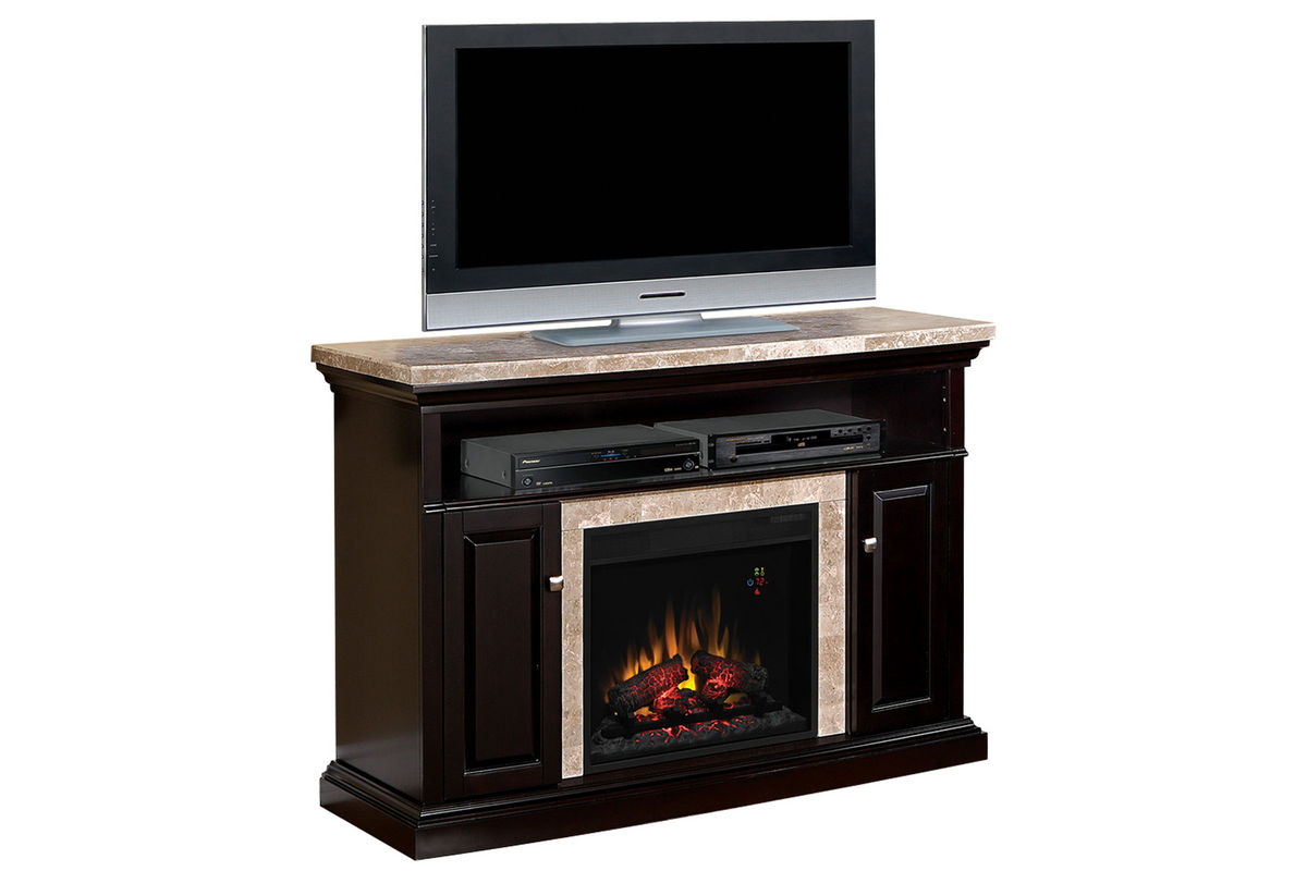 Brighton Black Fireplace With Granite Mantel At Gardner White