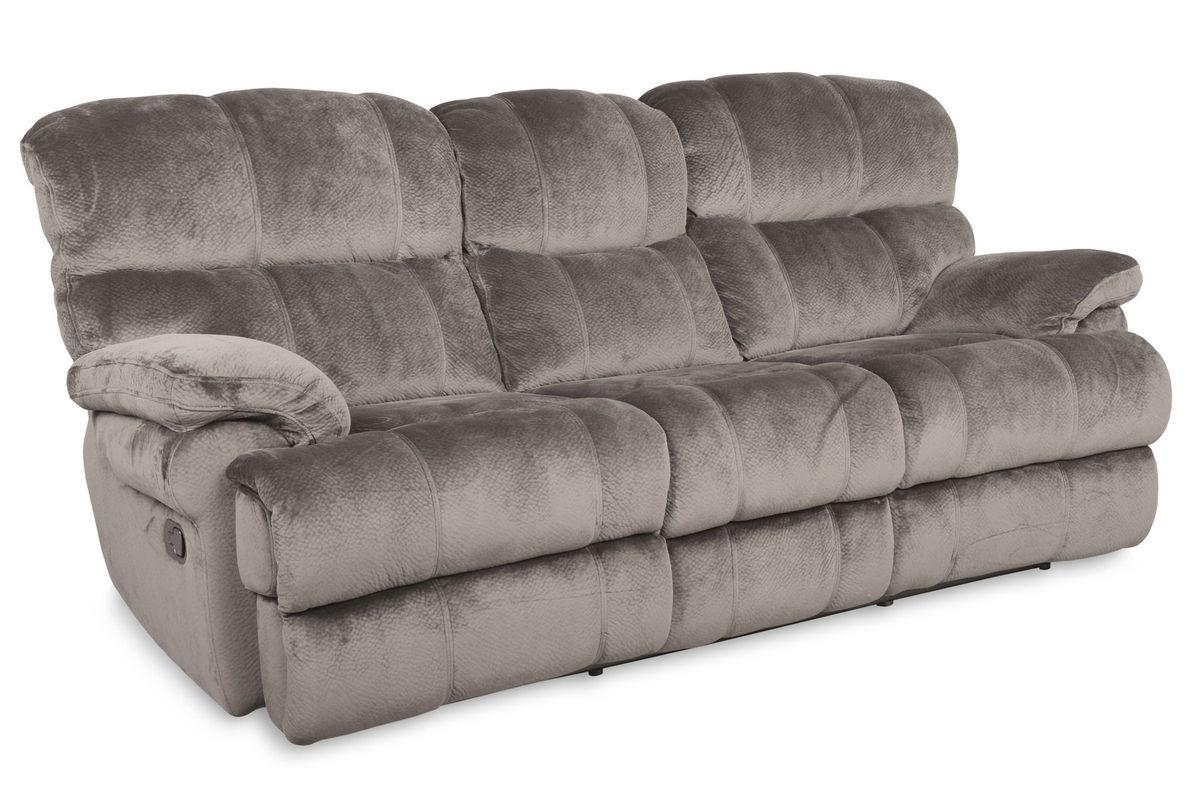 Smoky Microfiber Power Reclining Sofa At Gardner White