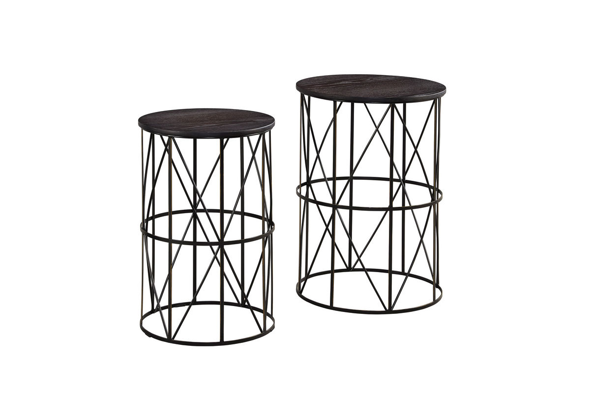 Marxim Nesting End Tables By Ashley Bronze At Gardner White