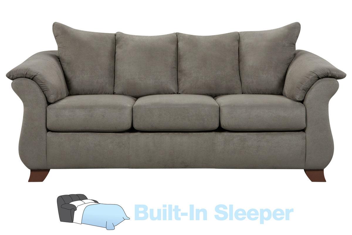 Upton Microfiber Queen Sleeper Sofa At Gardner White