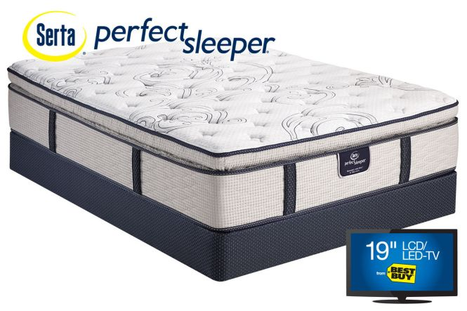 Serta Perfect Sleeper Dunkin Pillow Top Queen Mattress From Gardner White Furniture