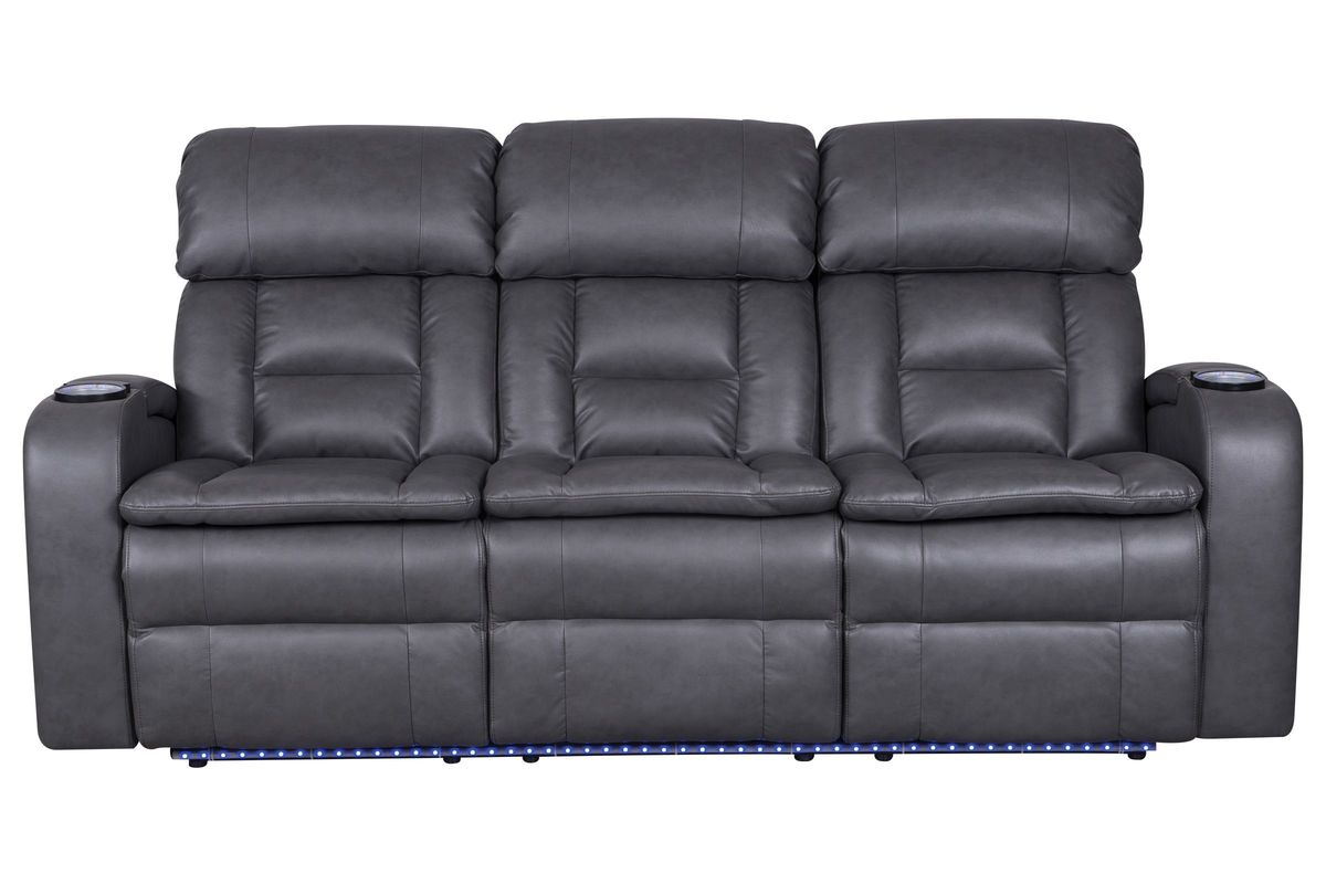 Zenith Power Reclining Sofa With Drop Down Table At