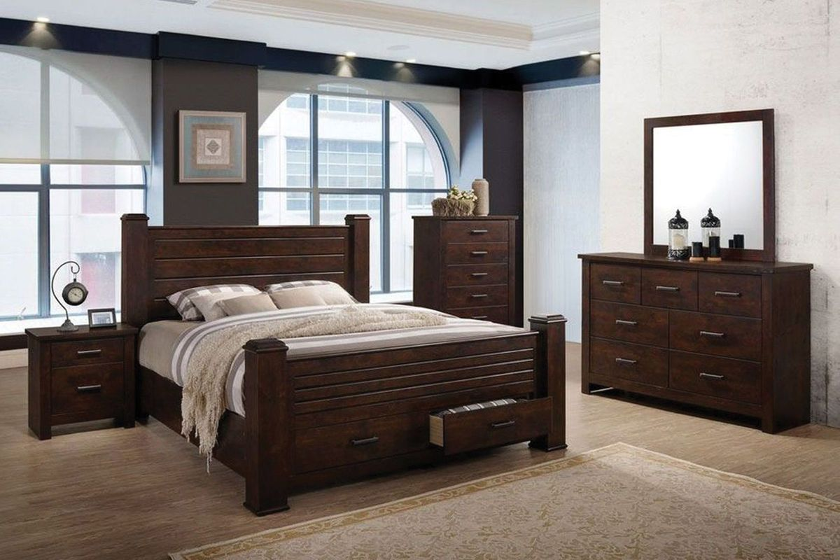 "archer 5-piece queen bedroom set with 32"" led-tv"