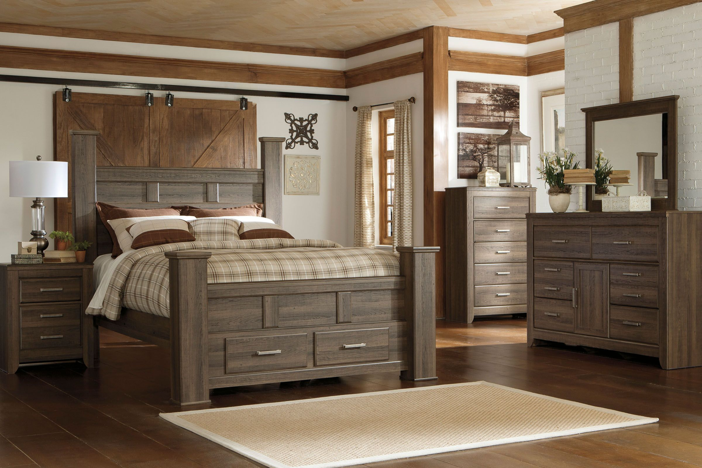 "jeri 5-piece king bedroom set with 32"" led-tv"