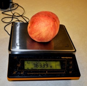 Peach on scale
