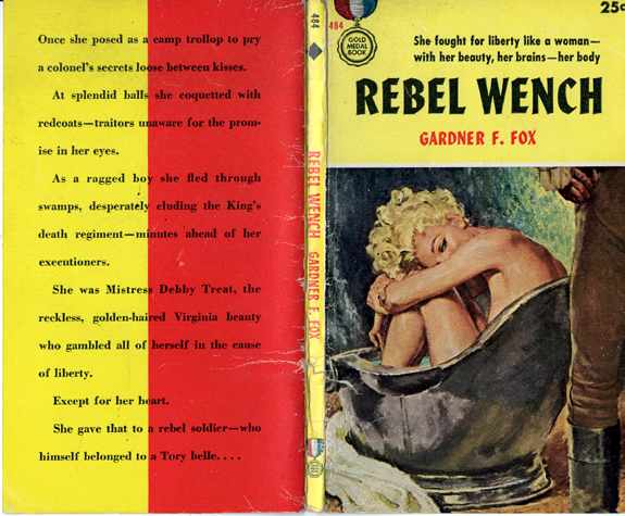 Rebel Wench gardner francis fox library historical fiction original cover  artist Walter Baumhofer