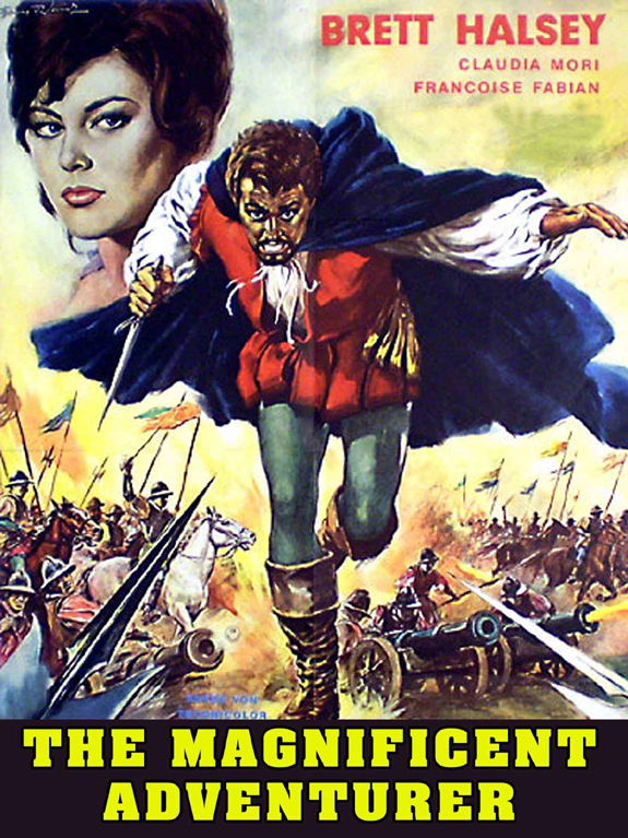 cinema poster of an Italian movie The Magnificent Adventurer