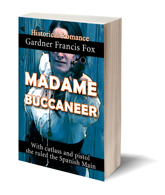 Photoshop version Madame Buccaneer Gardner F Fox scratchboard cover art Kurt Brugel historical fiction female pirate privateer