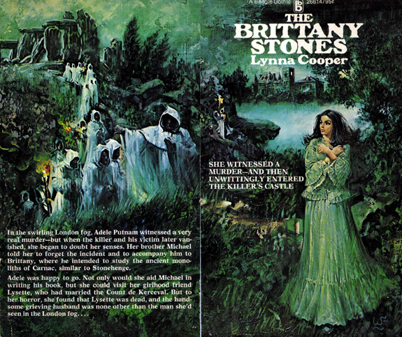 the original book cover art for The Brittany Stones by Lynna Cooper (Gardner F Fox)