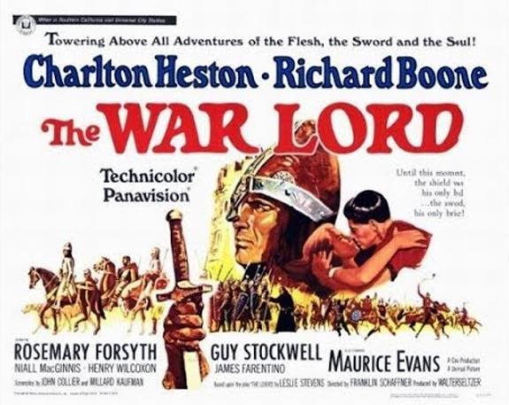 The-War-Lord-Charleton-Heston-1965 movie poster
