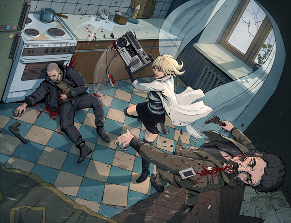 Another day at work Atomic Blonde Fanart by PavelTomashevskiy