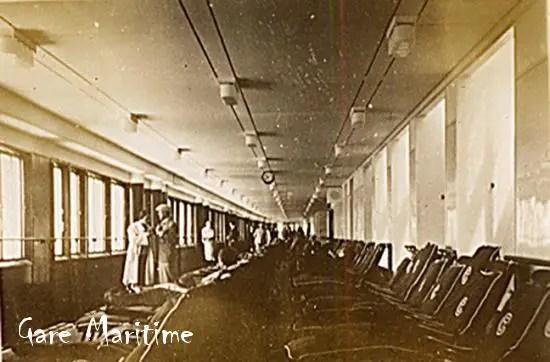 Interior deck view