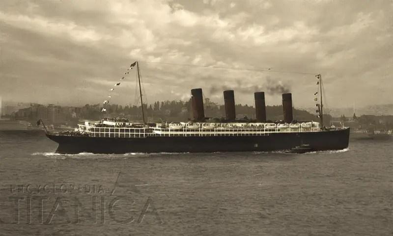 Lusitania Departure