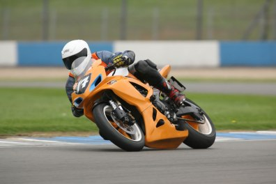 Preparing to Dive Down Crainer Curves Donington Saturday