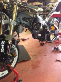 Engine Out ready for the New GSXR K7 one