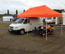 All set up at Mallory 2013