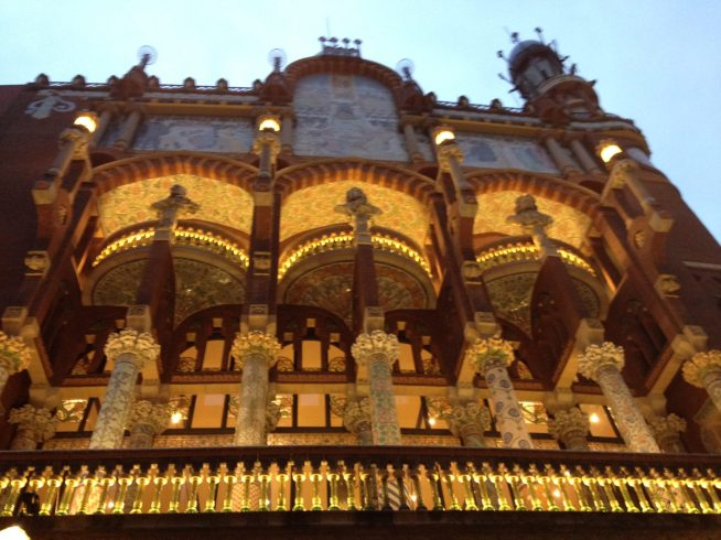 Palau de la musica Catalana. Foto Surian Dupont