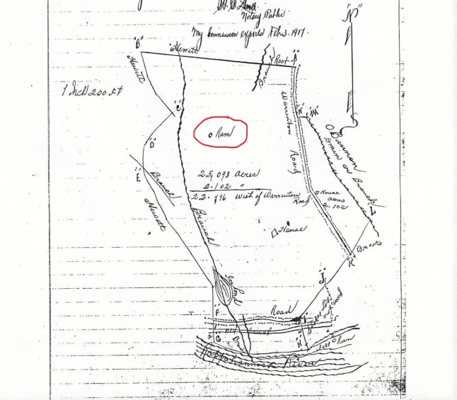 1916 plat showing location of ram