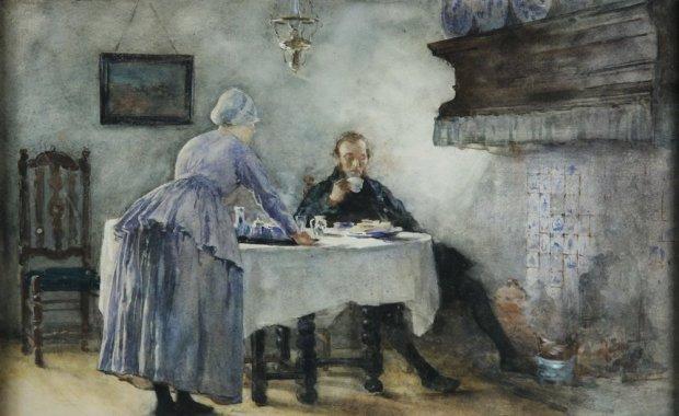 Couple in a Dutch Kitchen