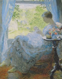 Young Woman Sewing
