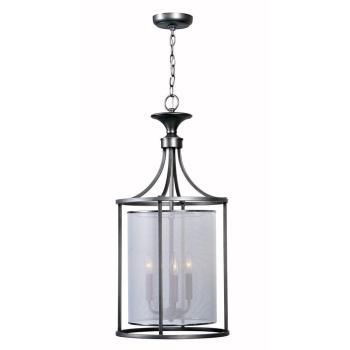 World Imports Aria Collection 3-Light Brushed Nickel Indoor Pendant WI4353-37