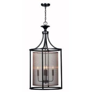 World Imports Aria Collection 3-Light Oil Rubbed Bronze Indoor Pendant WI4353-88