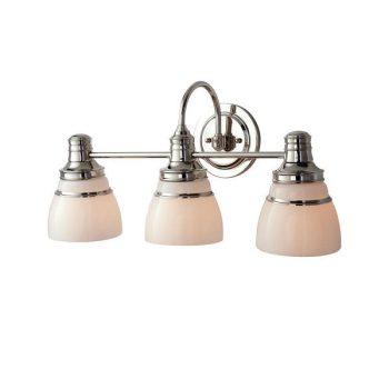 Martha Stewart Seal Harbor 3-Light Polished Nickel Plated Vanity Light V357PK03