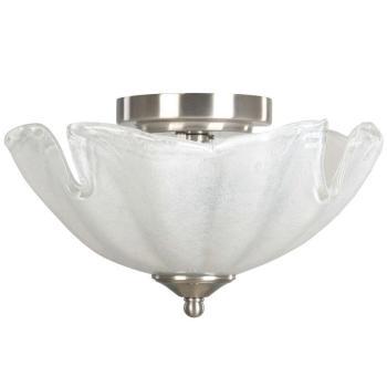 Hampton Bay Makasa 2-Light Semi-Flush White Ceiling Light Fixture 15154