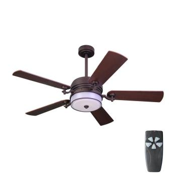 HDC 52 in. Indoor Bronze Organza Shade Ceiling Fan w/ Light Kit + Remote Control