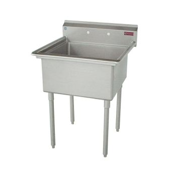 Griffin Freestanding Stainless Steel 2-Hole Single Bowl Scullery Sink C60-181-00