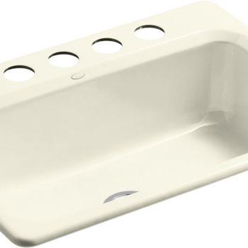 Kohler K-5832-5U-FD Bakersfield Undercounter Sink w/Installation Kit Cane Sugar