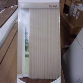 Designview 78″ x 84″ Mosaic 3 1/2″ Vertical Blinds in Tan 564642