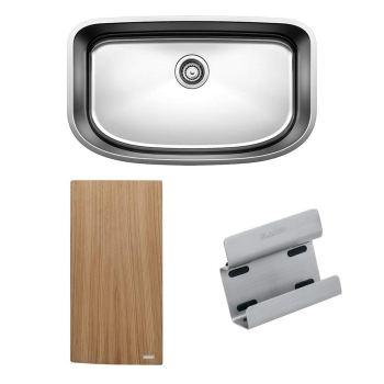 Blanco 441635 28.5″ Single Bowl Undermount Stainless Steel Kitchen Sink