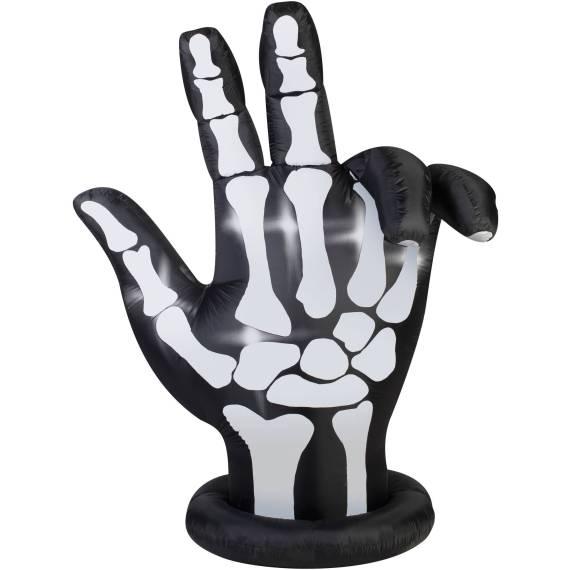 Gemmy Airblown Inflatable 7′ X 6′ Animated Skeleton Hand Halloween Decoration