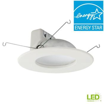 EcoSmart 65W Equiv Soft White 2700K Dimmable LED Recessed Downlight (4-Pack)