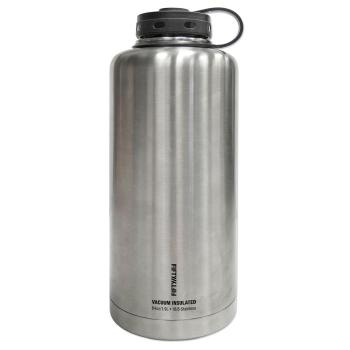 FIFTY/FIFTY Vacuum-Insulated Barrel Growler 64 oz. Stainless Steel