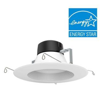 EnviroLite 5″/6″ Warm White Recessed LED Ceiling Trim Light EV607950WH27