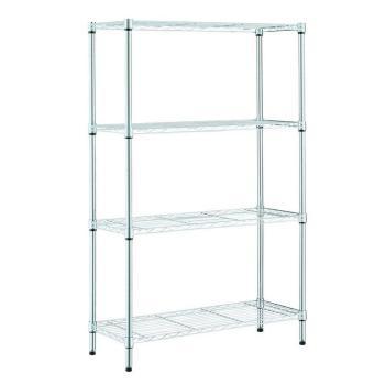 HDX 36 in. W x 14 in. L x 54 in. H 4-Shelves Chrome Storage Unit