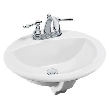 Glacier Bay Aragon Self-Rimming Drop-In Bathroom Sink in White