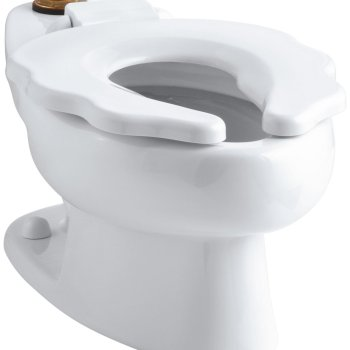 Kohler Primary Elongated Toilet Bowl with Seat 1.28 GPF in White K-4384-0
