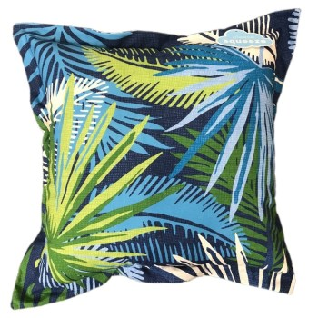 LOT OF 2** Allen + Roth Outdoor/Indoor Floral Blue Square Throw Pillow 880487