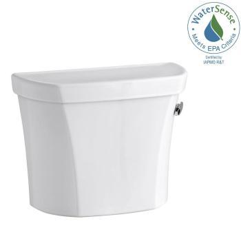 KOHLER Wellworth 1.6 GPF Single Flush Toilet Tank Only in White K-4468-RA-0