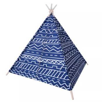 Pillowfort Teepee Southwest Blue Overalls Childrens Play Fort