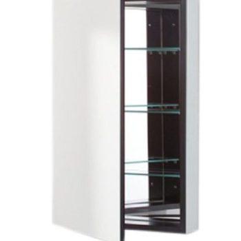 Robern PL Series Flat Plain Mirrored Door 19″Wx30″Hx3″D Black Interior PLM2030B