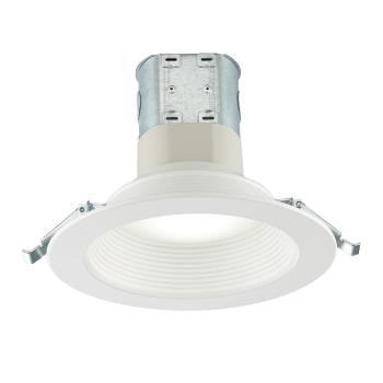 Commercial Electric Easy-Up 6 in. Deep Baffle Color Canless LED Recessed Kit