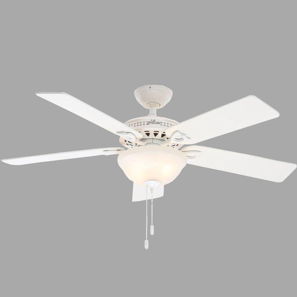 For Parts Hunter Astoria 52 In Indoor White Ceiling Fan With Light Kit 53059