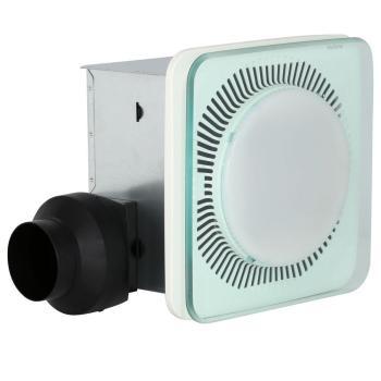 NuTone LunAura Square Panel Decorative White 110CFM Bathroom Exhaust Fan w Light
