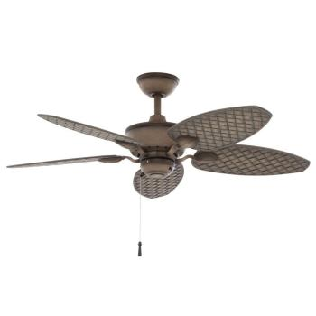 Hampton Bay Largo 48 in. Indoor/Outdoor Weathered Zinc Ceiling Fan 26685